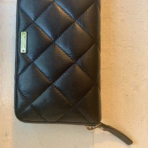 Kate Spade Black zip-around wallet
